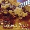 Father's Day Treat!  Gluten Free apple/cranberry crumble pie